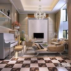 2018精选132平米现代别墅客厅装修设计效果图片大全