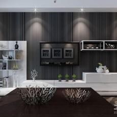 104平方三居客厅现代装修实景图片