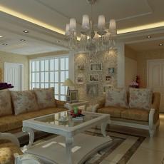 面积84平欧式二居客厅装修图片大全