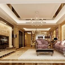 2018精选91平方三居客厅欧式装修效果图片