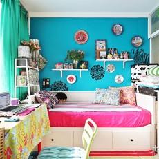 热门109平米三居卧室简约效果图片