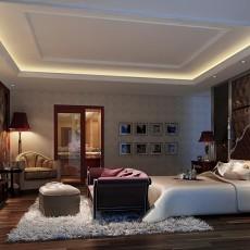 精选面积124平别墅卧室中式实景图片大全