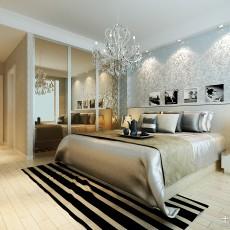 精美面积97平现代三居卧室装饰图