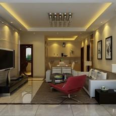 2018面积71平现代二居客厅装修设计效果图片欣赏
