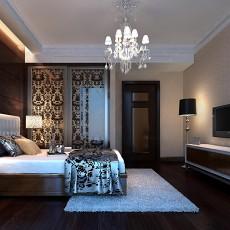 热门144平米中式别墅卧室装修效果图片