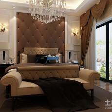 精选93平米三居卧室欧式装修设计效果图
