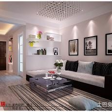 2018精选89平米现代小户型客厅装修设计效果图片欣赏