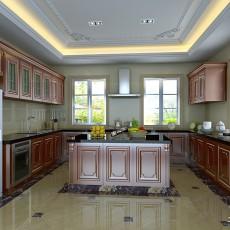 精美美式别墅厨房欣赏图