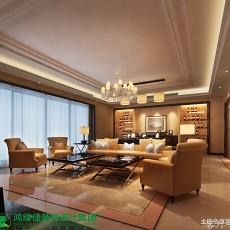 2018精选面积85平欧式二居客厅装修效果图