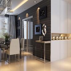 面积76平现代二居餐厅装饰图