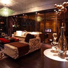 精美91平米三居客厅美式装修实景图