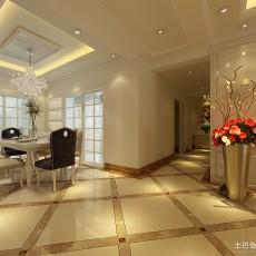 精选面积100平欧式三居餐厅装修效果图片