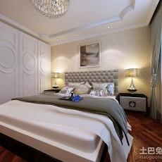 热门面积92平欧式三居卧室装修效果图片