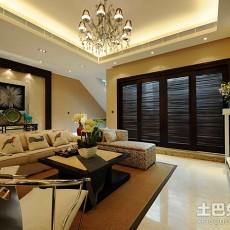 107平方三居客厅简约装饰图片