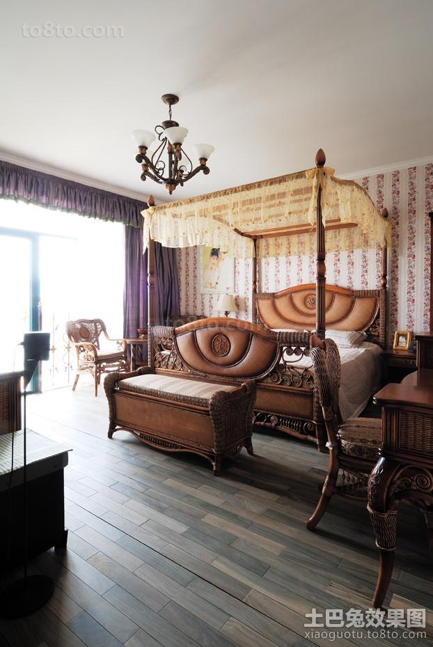 精美面积106平东南亚三居卧室装修效果图片大全