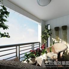热门三居阳台现代实景图片欣赏