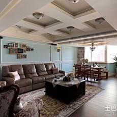 精美面积109平欧式三居客厅装修效果图片大全