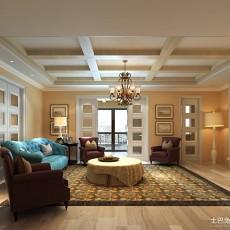 精选面积135平别墅客厅欧式装修效果图片大全