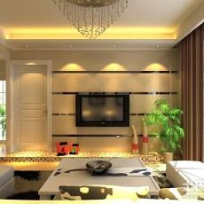 99平客厅三居现代装修设计效果图片
