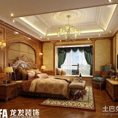 2018精选136平米欧式别墅卧室装修效果图片