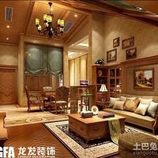 精选大小138平别墅客厅欧式装修设计效果图片欣赏