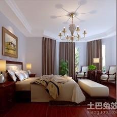 90平米三居卧室简约效果图片