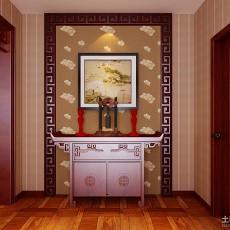 精选面积119平别墅玄关中式装修欣赏图片大全