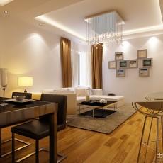精美大小107平现代三居客厅装修设计效果图片欣赏
