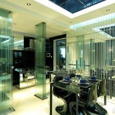 热门面积100平现代三居餐厅装修实景图片欣赏