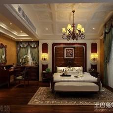 141平米美式别墅卧室装修设计效果图片