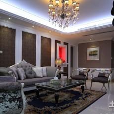 2018精选大小99平欧式三居客厅装修效果图片