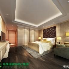 106平米三居卧室美式装修设计效果图片