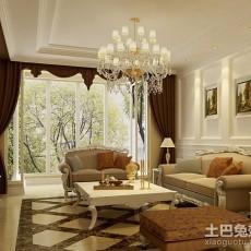 精选78平米二居客厅欧式装修效果图