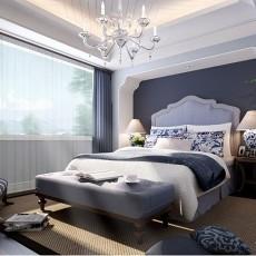 热门面积92平欧式三居卧室实景图