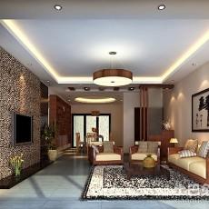大小101平中式三居客厅设计效果图