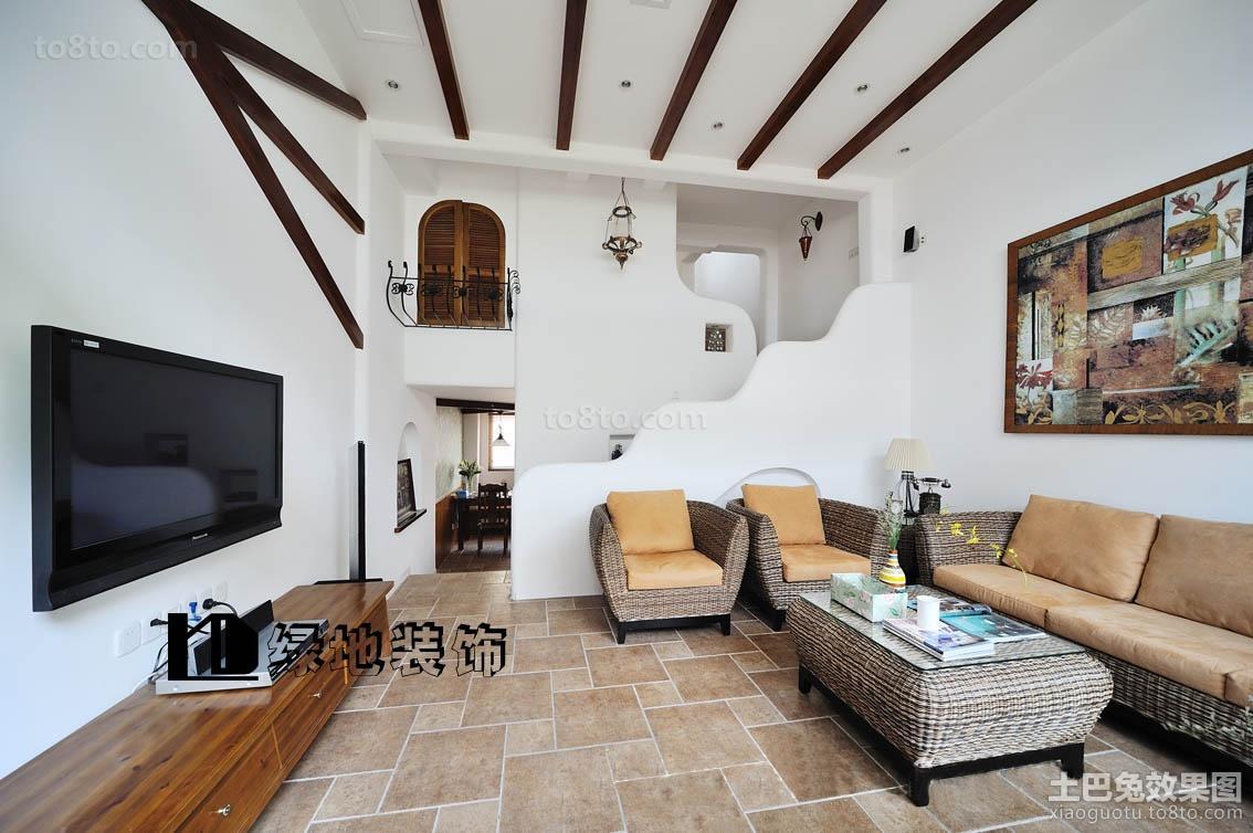 精美110平米欧式复式客厅装修设计效果图片大全