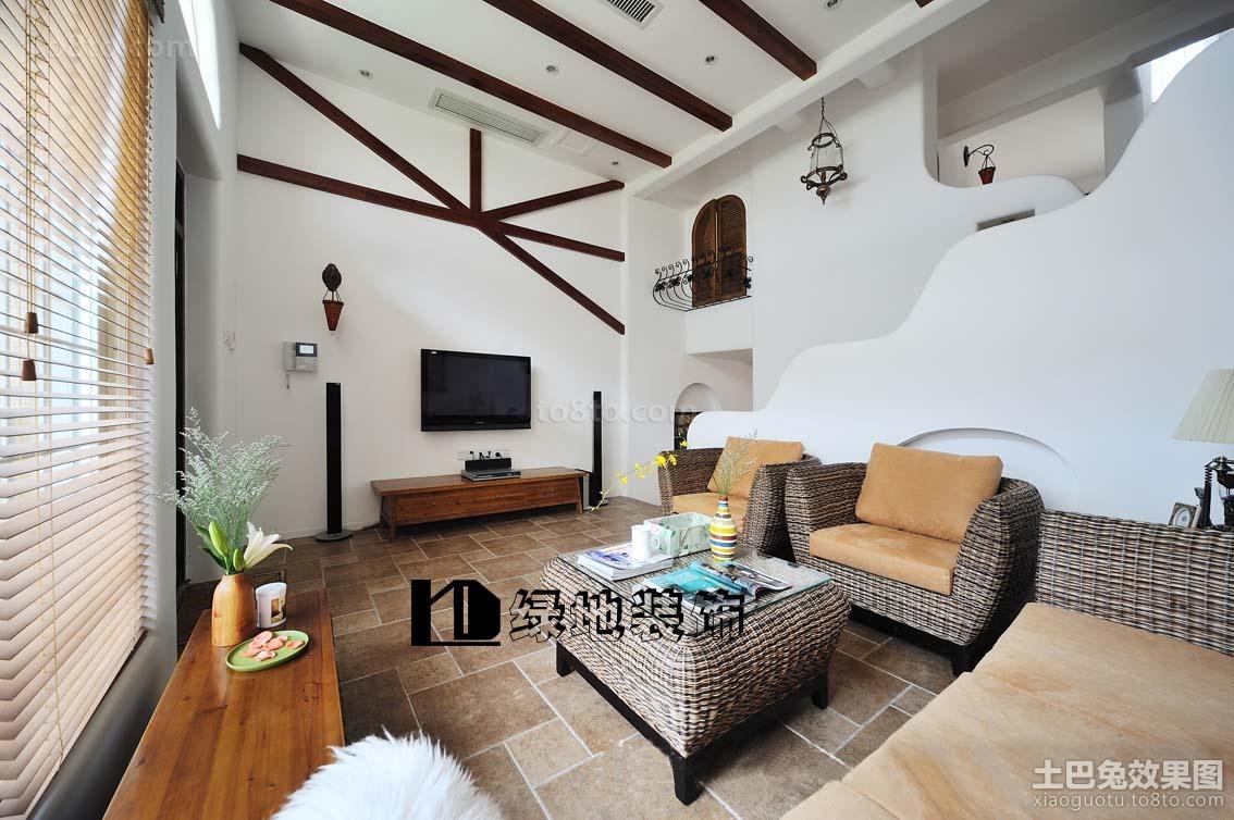 精美欧式复式客厅装修效果图