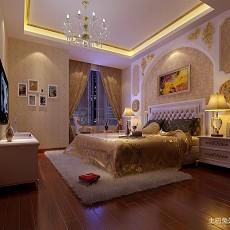 热门96平米三居卧室欧式装修图片大全