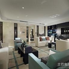 2018106平方三居客厅现代装饰图片