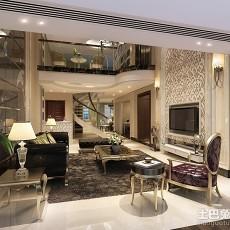 2018139平米欧式别墅客厅实景图
