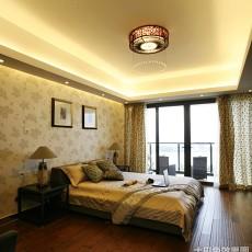 144平米中式别墅卧室装修设计效果图片