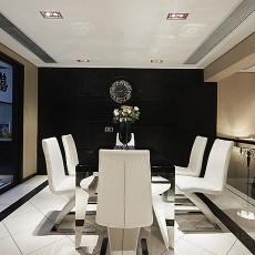 面积105平现代三居餐厅欣赏图