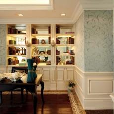精美面积105平欧式三居书房装修欣赏图片大全