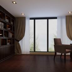 精选103平米三居书房中式实景图片大全