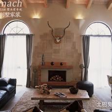 热门面积134平别墅客厅美式装修欣赏图