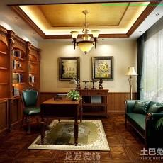 面积111平别墅书房中式效果图片欣赏