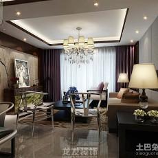 面积100平中式三居客厅实景图片欣赏