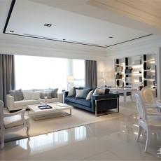 精选面积91平欧式三居客厅实景图片大全