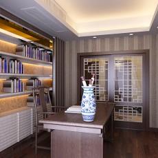 热门小户型书房中式装修设计效果图片