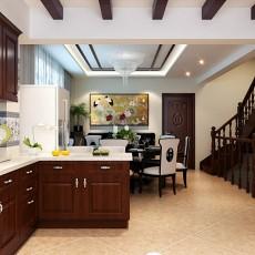 精选面积121平别墅厨房中式实景图